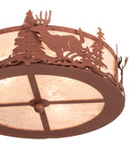 "16""W Deer At Dusk Fan Light Fixture"