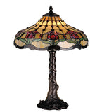 "19.5""H Colonial Tulip Tiffany Floral Table Lamp"