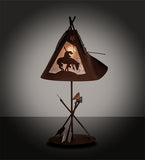 "27""H Trails End Southwest Table Lamp"