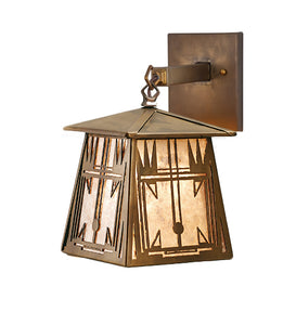 "7.5""W Southwest Hanging Outdoor Wall Sconce"
