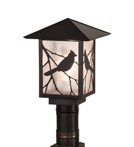 "9""Sq Seneca Song Bird Post Mount"