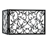 "34""W X 23""H Vine Folding Metal Fireplace Screen"