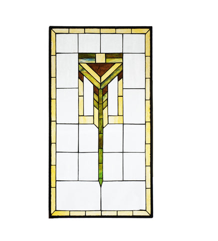 "19.5""W X 35.8""H Prairie Stained Glass Window"