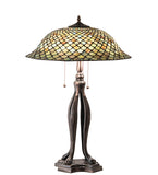 "30""H Tiffany Fishscale Table Lamp"