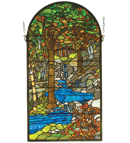 "16""W X 30""H Tiffany Waterbrooks Stained Glass Window"