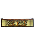 "34.75""W X 8.75""H Pillars Floral Transom Stained Glass Window"
