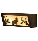 "16""W Moose at Lake Vanity Light"