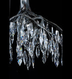 "21""W Winter At Stillwater Crystal Lodge Chandelier"
