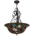 "38""W Tiffany Rosebush Inverted Pendant"