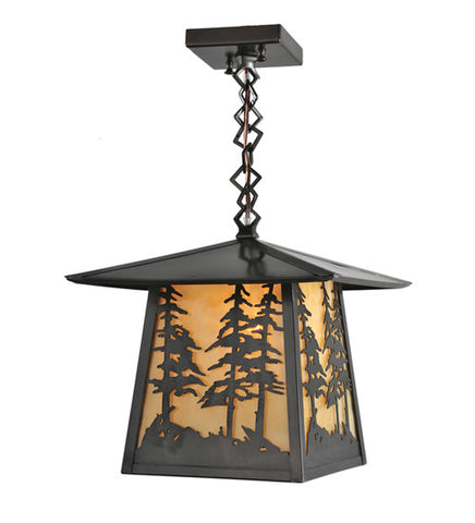 "12""Sq Stillwater Tall Pines Outdoor Pendant"