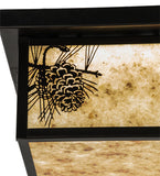 "12""Sq Hyde Park Winter Pine LED Outdoor Flushmount"