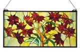 "30""W X 15""H Black Eyed Susan Stained Glass Window"