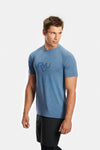 RYU Mens Graphic Vapor Crew Neck in Cerulean