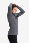 RYU Womens Ethos Pullover in Heather Anchor