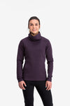 RYU Womens Ethos Pullover in Blackened Mulberry