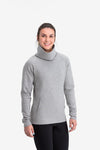 RYU Womens Ethos Pullover in Heather Stone Grey