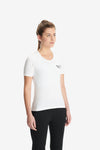 RYU Womens Standard Issue Crew - RESPECT YOUR UNIVERSE Graphic in White