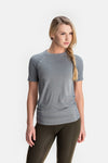 RYU Womens Vapor Crew Neck in Titanium