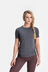 RYU Womens Vapor Crew Neck in Asphalt Heather