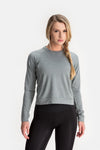 RYU Womens MidLayr Crew in Athletic Grey Heather