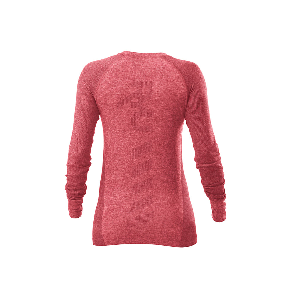 RYU Womens Vapor Long Sleeve Top in Lava