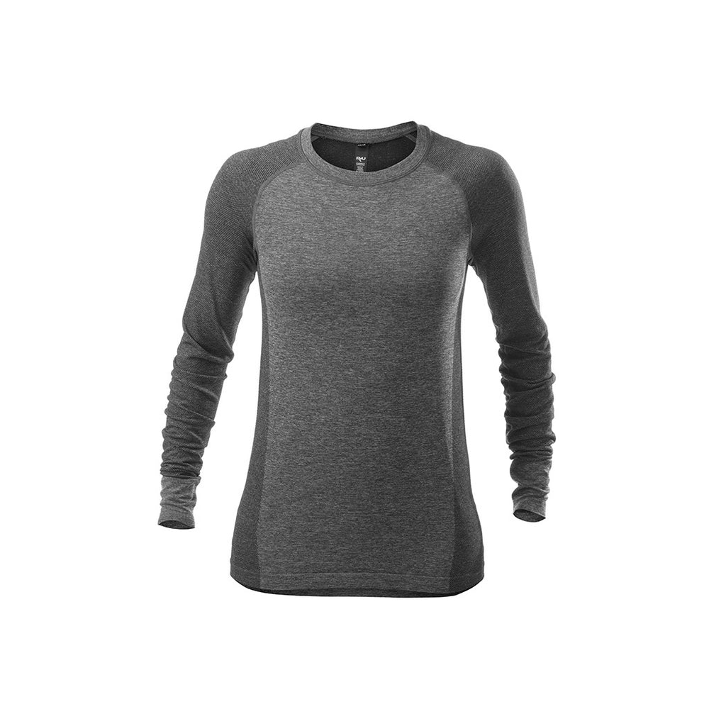 RYU Womens Vapor Long Sleeve Top in Asphalt Heather