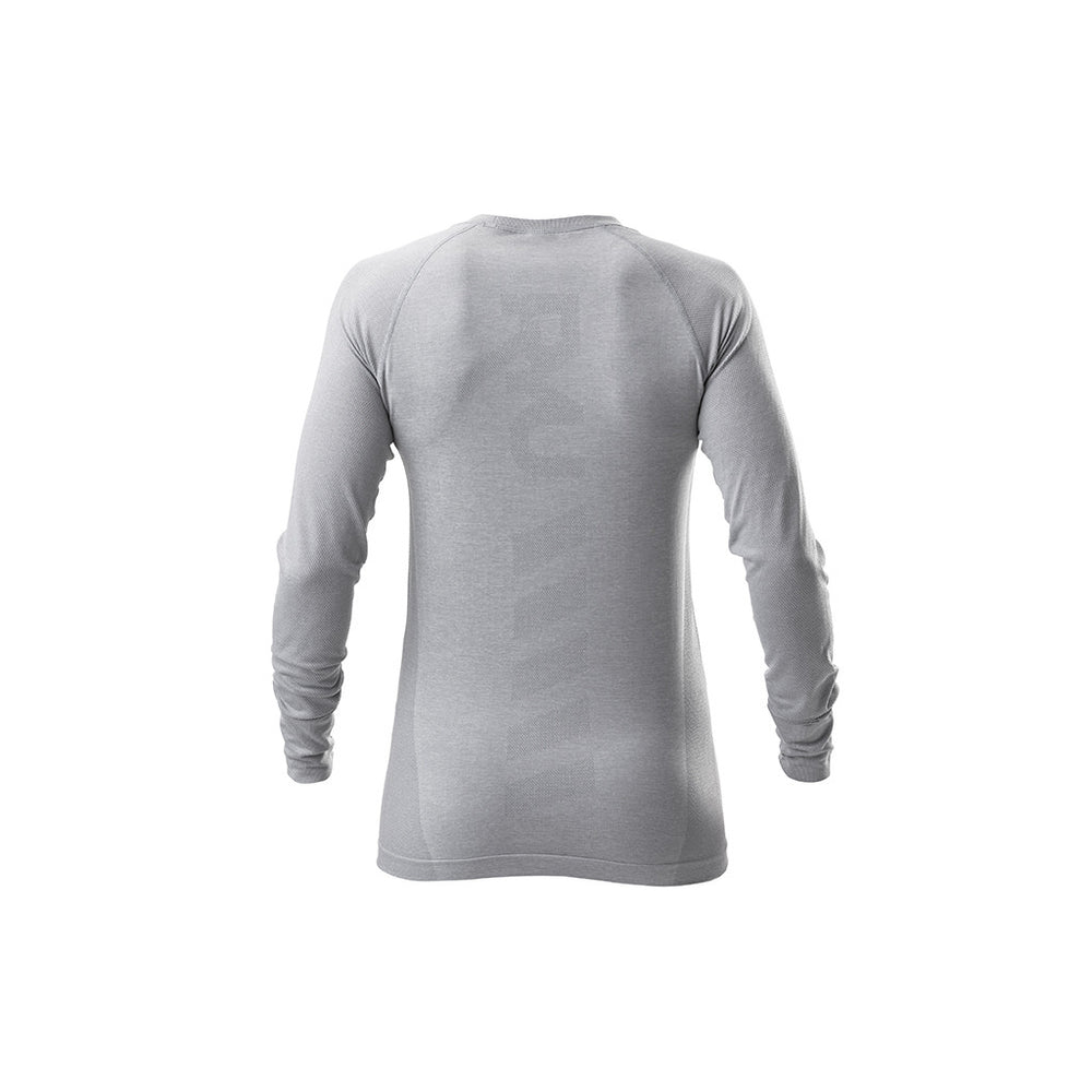 RYU Womens Vapor Long Sleeve Top in Concrete Heather