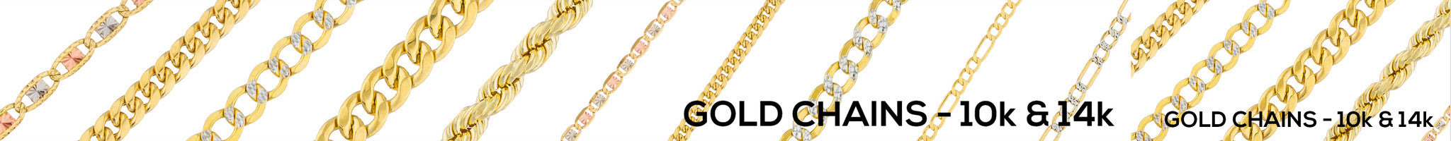 Real Gold Chains - 14K & 10K