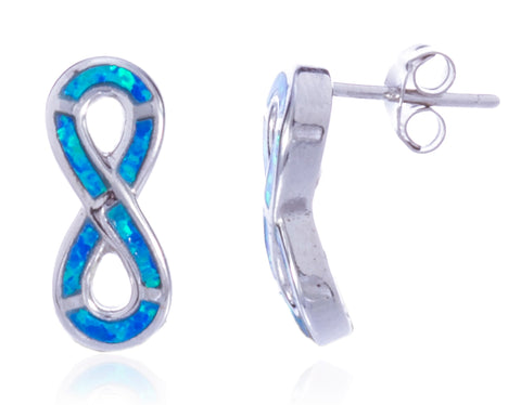 sterling silver earrings infinity