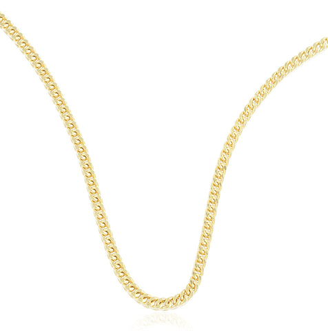 10k Yellow Gold 2.2mm Franco Chain Necklace - 16 18 20 And 24 Available