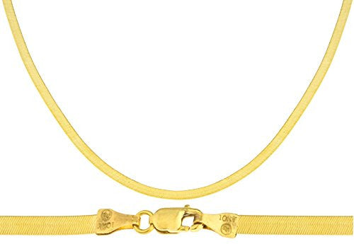 10k Yellow Gold 3mm Herringbone Chain...