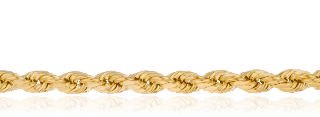 Real 10k Yellow Gold 4.5mm Rope...
