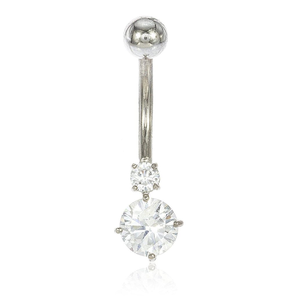 Simple Belly Button Ring Cubic Zirconia...