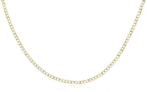 2.4mm Pave Cuban Link Chain