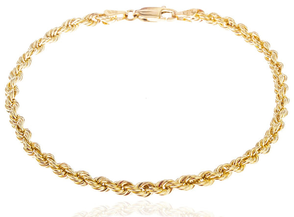 3mm Hollow Rope Chain Bracelet