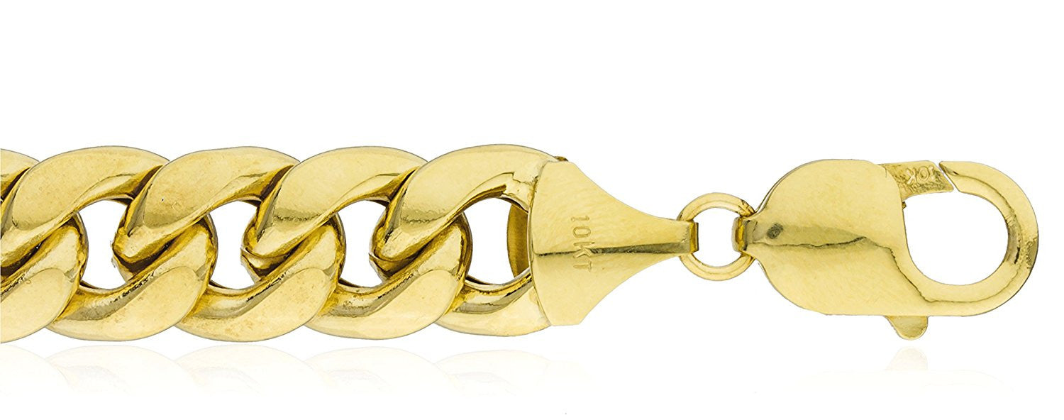 wide bracelet product gold rounded hollow yellow curb link