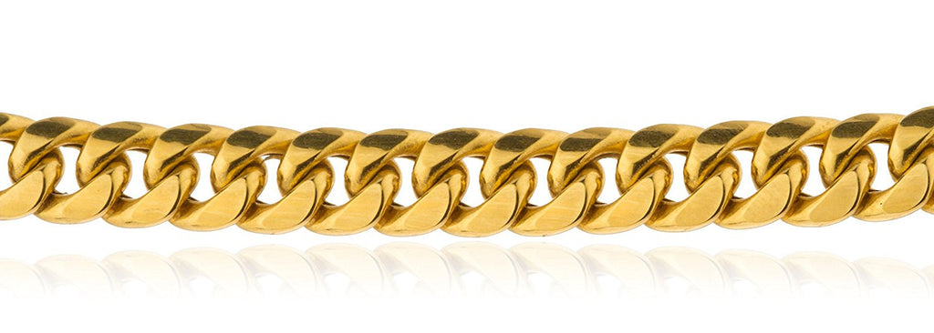 10k Yellow Gold Bracelet 6mm Miami...