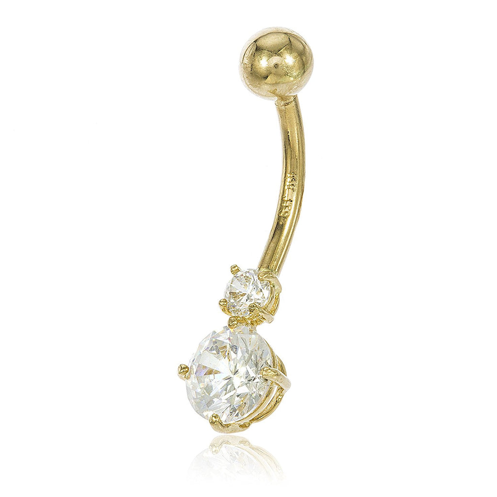 10k Yellow Gold Cubic Zirconia Simple...