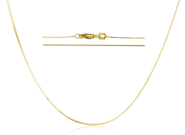 14k Yellow Gold .65mm Box Chain - 16 18 And 20 Available