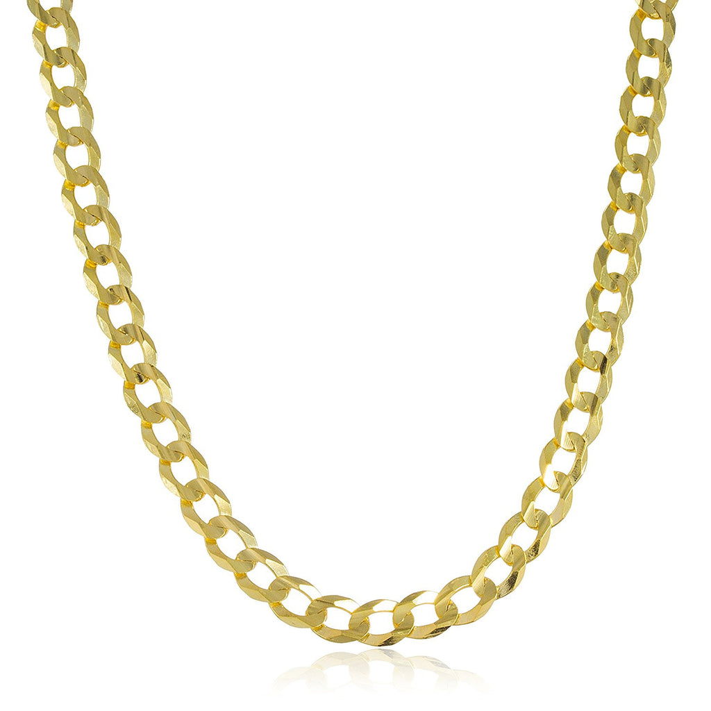 14K Yellow Gold 7mm Solid Cuban...