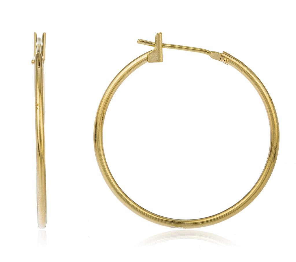 14k Yellow Gold Basic 25mm Click...