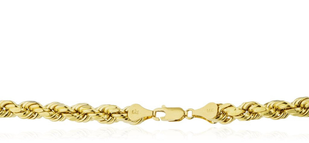 14k gold rope chain stamp