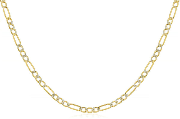 2.3mm Pave Figaro Chain
