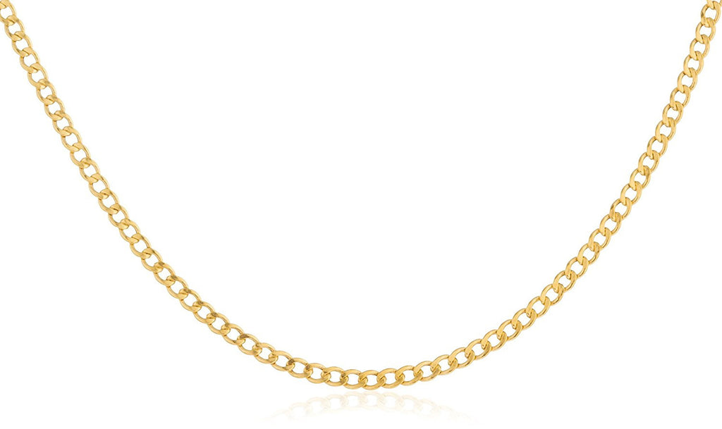 14k Yellow Gold 2mm Cuban Chain...