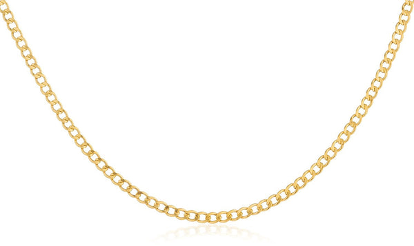 14k Yellow Gold 2mm Cuban Chain 10-30inch