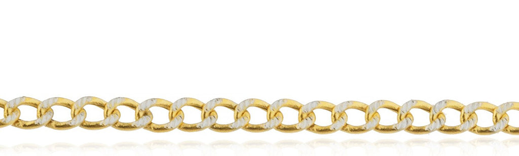 14K Gold Pave Cuban 2mm Chain,...