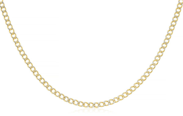 2mm Pave Cuban Chain