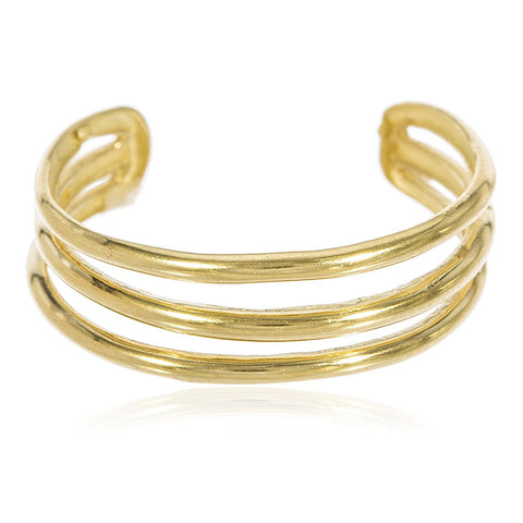 14K Three Wire Toe Ring