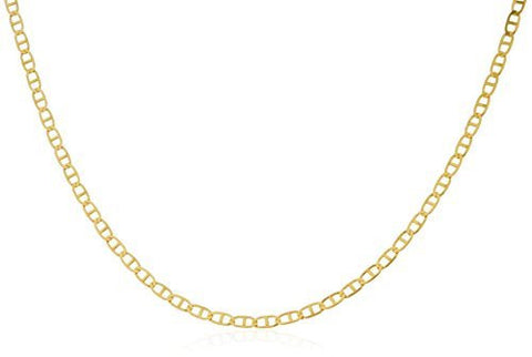 18K Gold 1.6mm Mariner Chain (16 - 24 Inches Available)