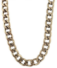 2 Pieces Of Burnished Goldtone 20 Inch Cuban Chain 14mm Necklace With Adjustable Toggle